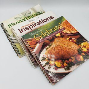 The Pampered Chef Spiral 3 Book Bundle Cookbooks
